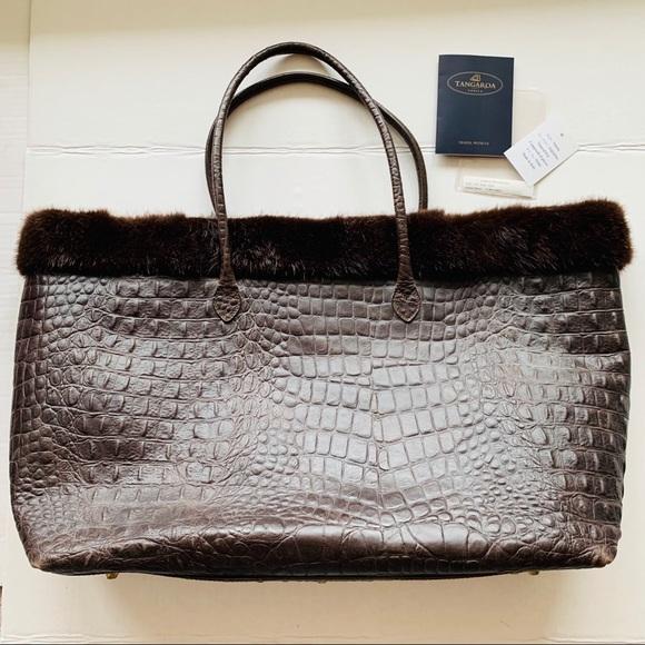 Handbags - Tangaroa Venice Linea Pelliccia Travel Tote, Rare